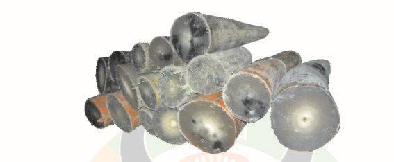 Ox Horn Blank Button 06