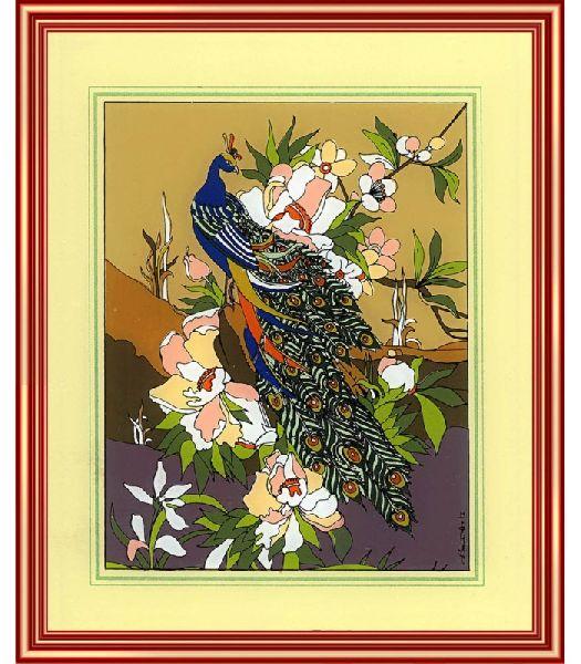 1d452f2d61fb Golden Peacock Framed Art Prints Glass Manufacturer Supplier in ...