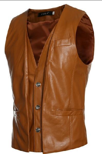 Mens Leather Waistcoat