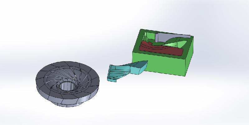 3D Francis Runner Vane Core Box & Assembly