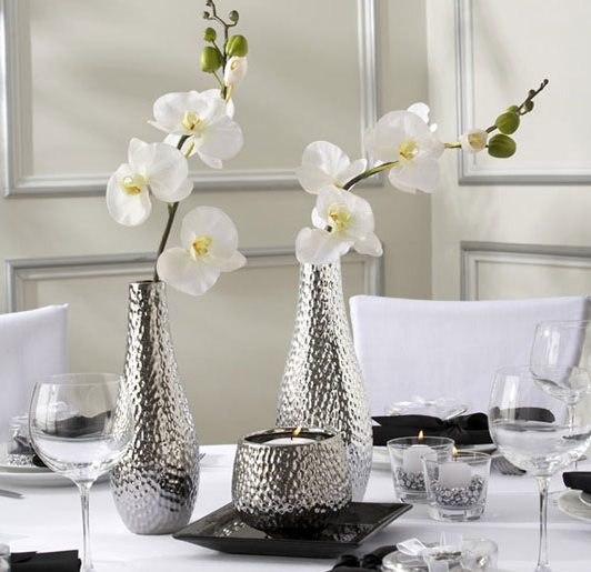Metallic Flower Vase