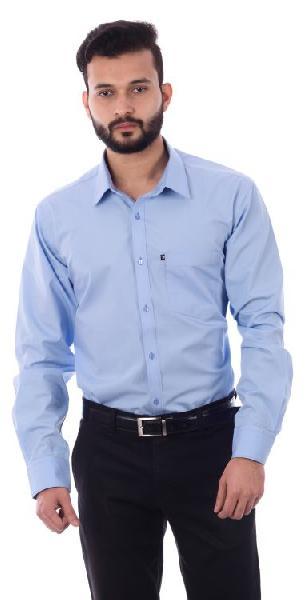 Mens Formal  Blue Shirt