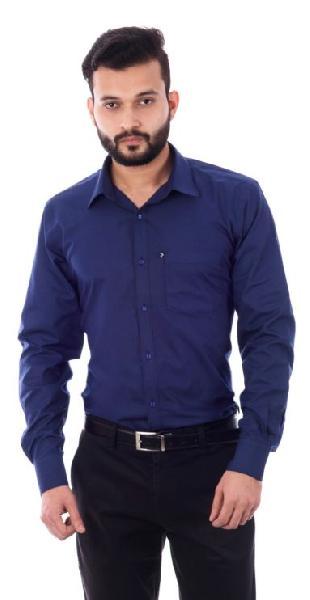 Mens Formal  Dark Blue Shirt