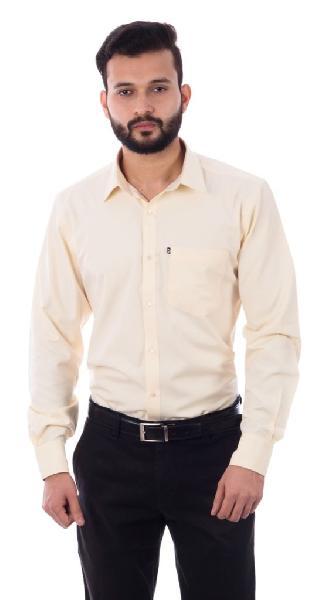 Mens Formal Yellow Shirt