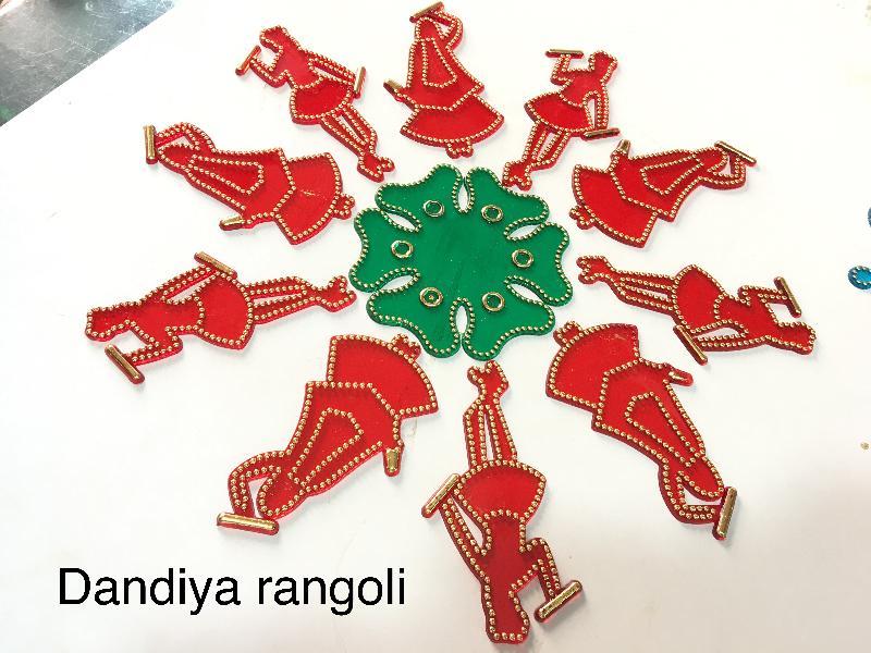 Dandiya Acrylic Rangoli