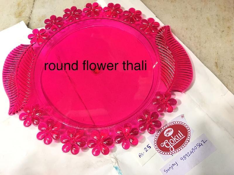 Round Flower Pooja Thali
