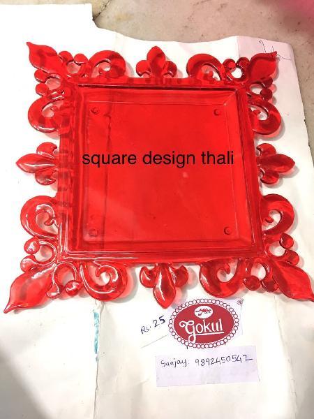 Square Design Pooja Thali