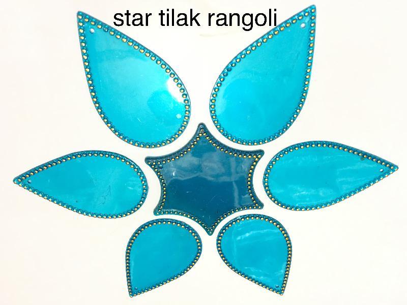 Star Tilak Acrylic Rangoli