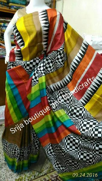 Block Printed Silk Saree 04