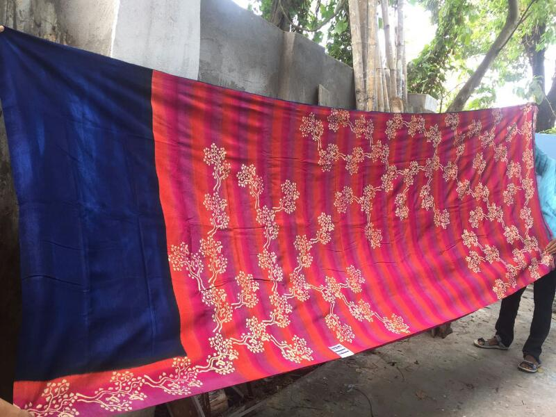 Block Printed Silk Saree 06