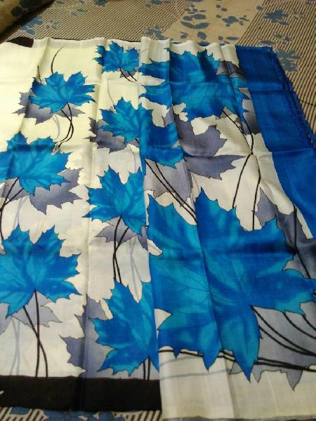 Block Printed Silk Saree 07