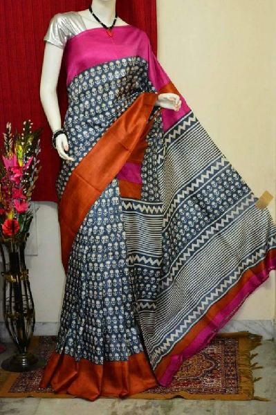 Block Printed Silk Saree 08