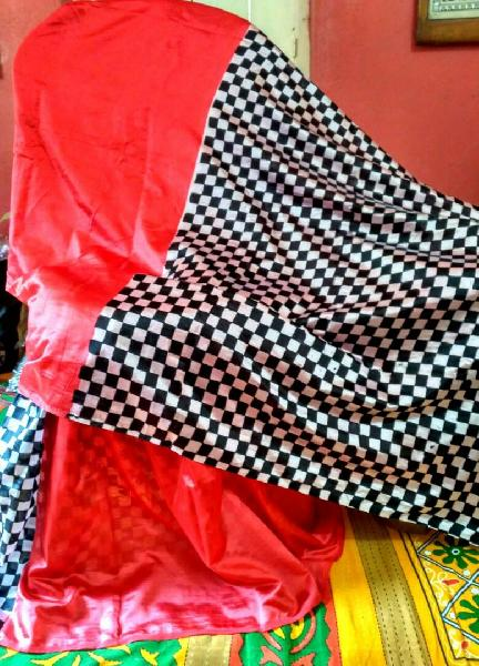 Block Printed Silk Saree 12