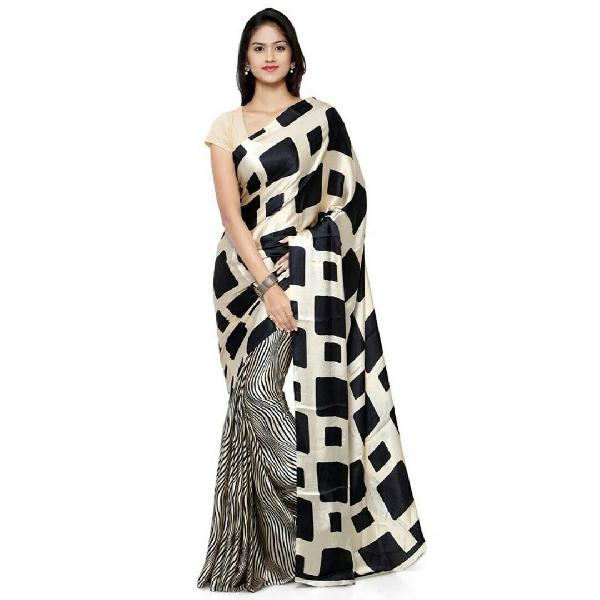 Block Printed Silk Saree 15