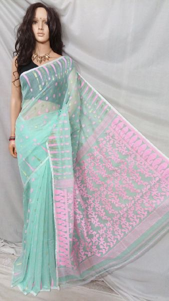 Dhakai Jamdani Saree Without Blouse 14