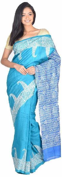 Hand Block Printed Saree 03