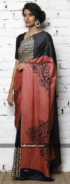 Hand Block Printed Saree 11