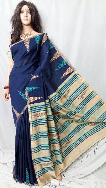 Silk Cotton Saree With Blouse 05