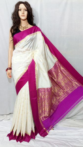 Silk Cotton Saree With Blouse 12