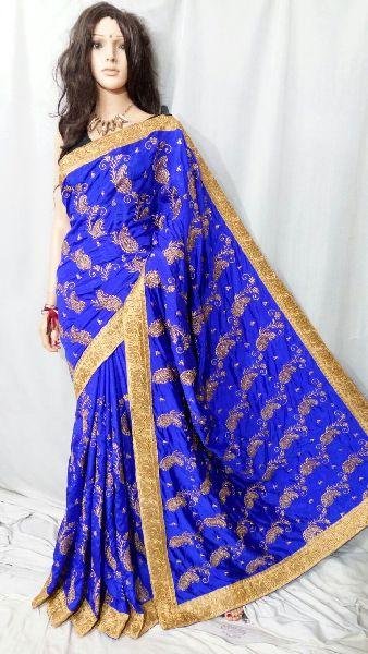 Silk Cotton Saree With Blouse 18