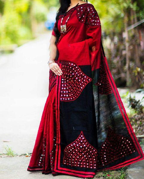 Silk Cotton Saree With Blouse 38