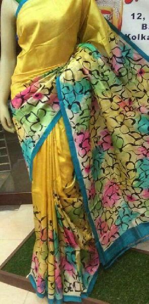 Tussar Silk Saree With Blouse 01