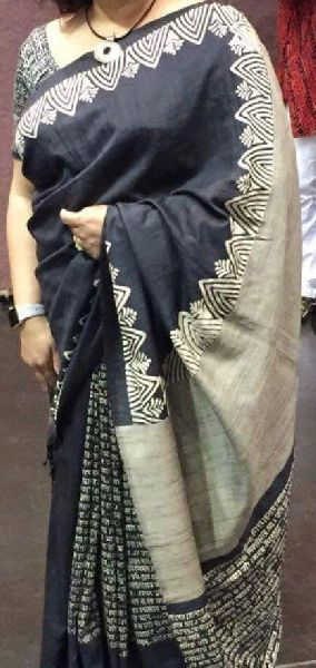 Tussar Silk Saree With Blouse 03