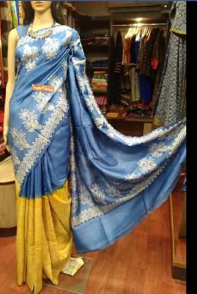 Tussar Silk Saree With Blouse 04