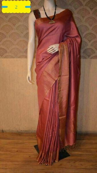 Tussar Silk Saree With Blouse 05
