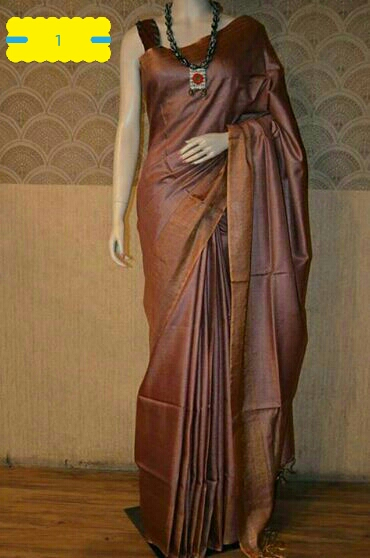 Tussar Silk Saree With Blouse 07