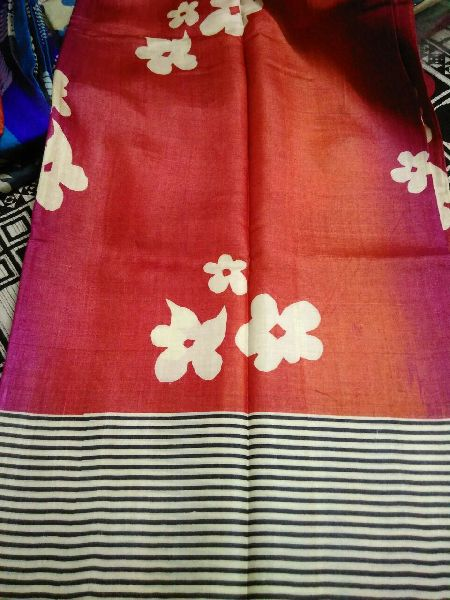 Tussar Silk Saree With Blouse 08