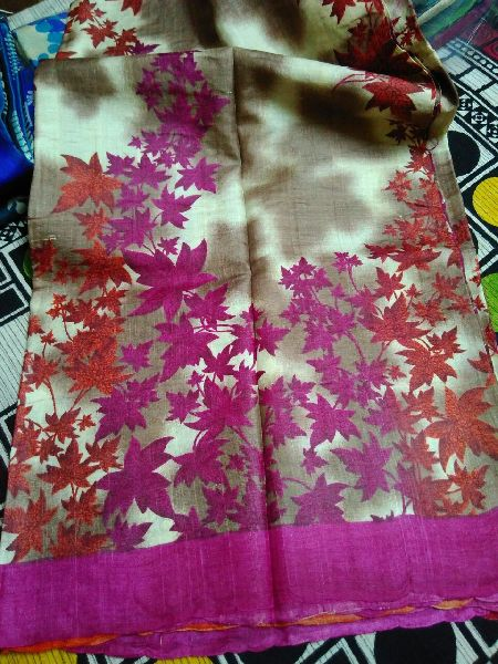 Tussar Silk Saree With Blouse 09