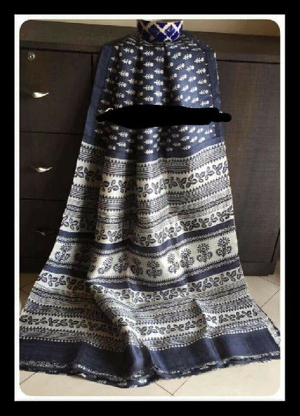 Tussar Silk Saree With Blouse 12