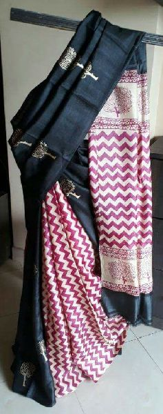 Tussar Silk Saree With Blouse 13