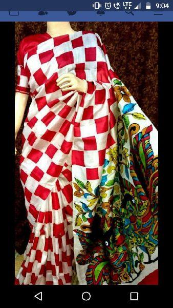 Tussar Silk Saree With Blouse