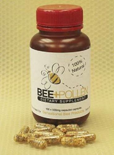 100% Natural Pure New Zealand Bee Pollen 500mg (100 Capsules)