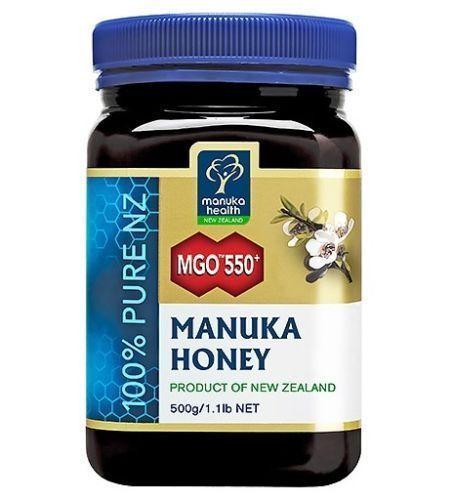 All Natural Sertified Manuka Health MGO 550+ Manuka Honey (500g)