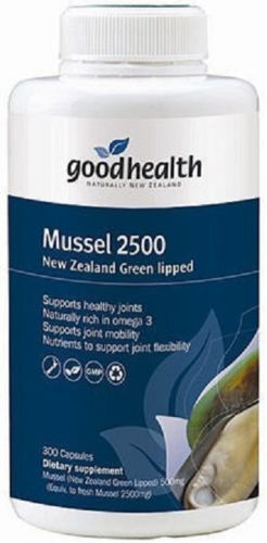 Good Health High Strength 2500 New Zealand Green Lipped Mussel 300 Capsules