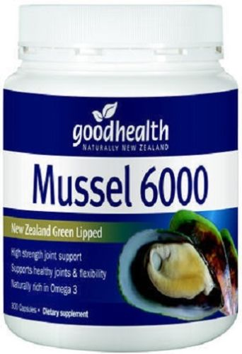Good Health High Strength 6000 New Zealand Green Lipped Mussel 300 Capsules