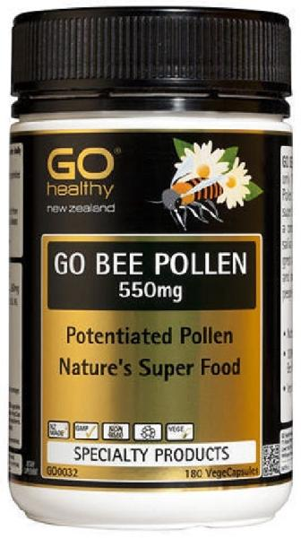 New Zealand Go Healthy GO Bee Pollen 550mg (180 Capsules)