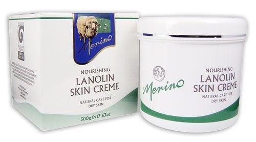 New Zealand Merino Lanolin Skin Creme 500g Natural Care For Dry Skin