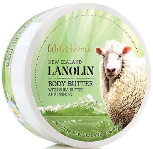 New Zealand Wild Ferns Lanolin Body Butter With Shea Butter 175g 97% Natural