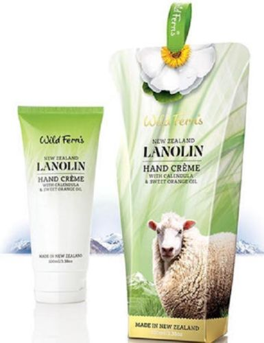 New Zealand Wild Ferns Lanolin Hand Creme With Calendula & Sweet Orange Oil (100ml)