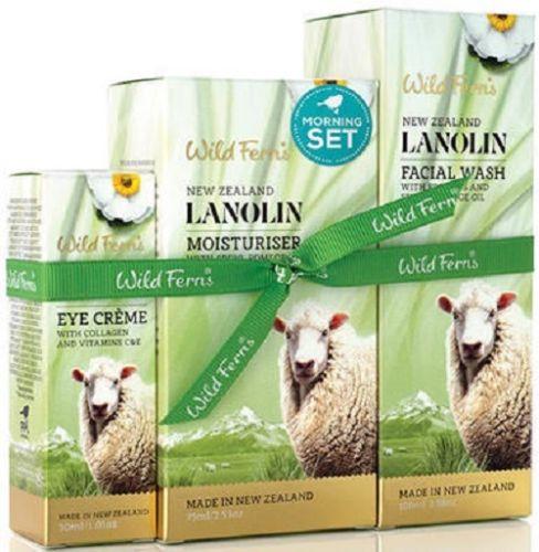 New Zealand Wild Ferns Lanolin Morning Set