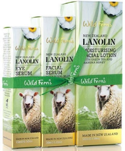 New Zealand Wild Ferns Lanolin Serum Set