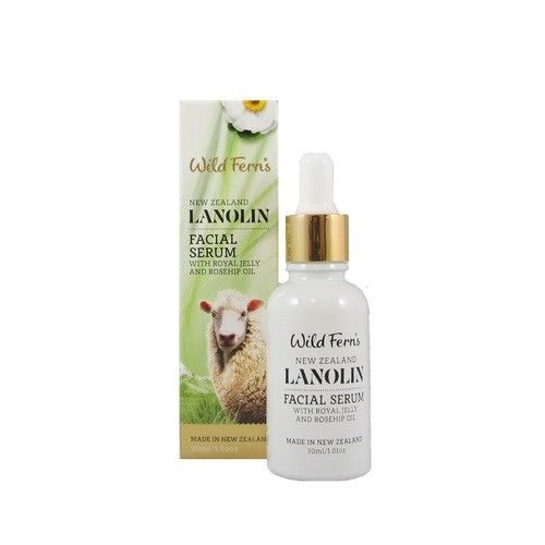 Wild Ferns Lanolin Facial Serum With Royal Jelly & Rosehip Oil 30ml 98% Natural