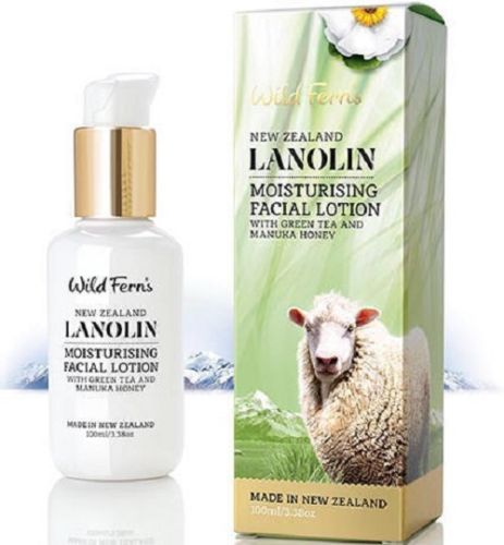 Wild Ferns Lanolin Moisturising Facial Lotion With Green Tea And Manuka Honey (100ml)