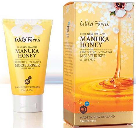 Wild Ferns Manuka Honey 80+ Protective Hydrating Moisturiser With SPF30 (75ml)