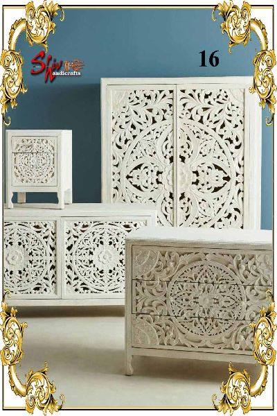016 Wooden Designer Dresser