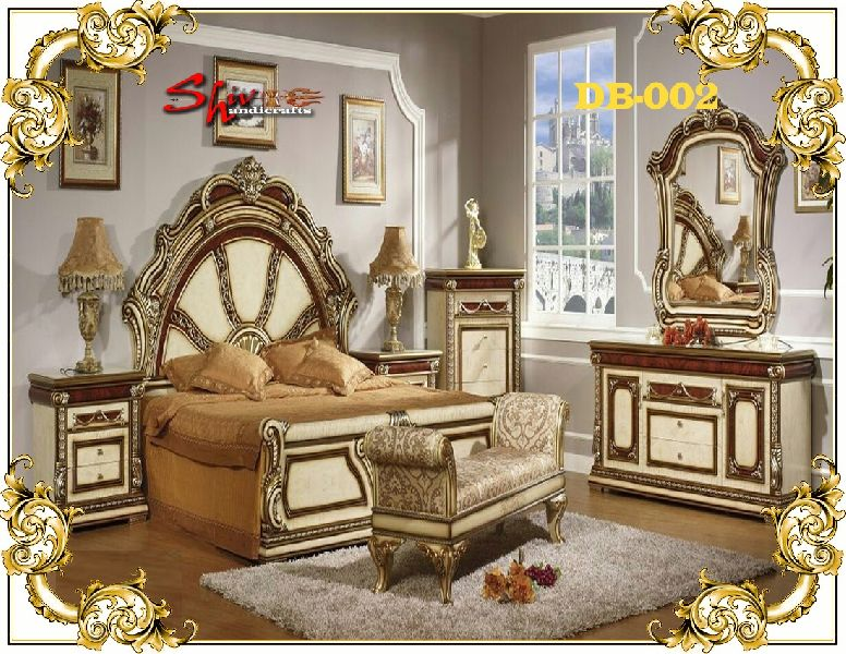 DB-002 Wooden Double Bed